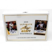 2018 Leaf Ultimate Draft Football Hobby 12 Box Case
