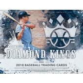 2018 Panini Donruss Diamond Kings Baseball Hobby 12 Box Case