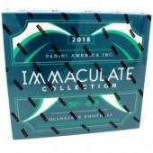 2018 Panini Immaculate Collegiate Football Hobby Box