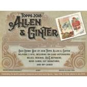2018 Topps Allen & Ginter Baseball Hobby 12 Box Case