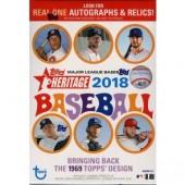 2018 Topps Heritage Baseball Blaster 16 Box Case