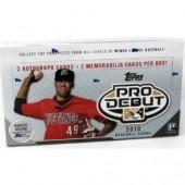 2018 Topps Pro Debut Baseball Hobby 12 Box Case