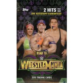 2018 Topps WWE Road To Wrestlemania Hobby 8 Box Case