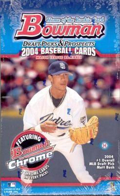 2004 Bowman Draft Picks & Prospects Baseball Hobby 10 Box Case