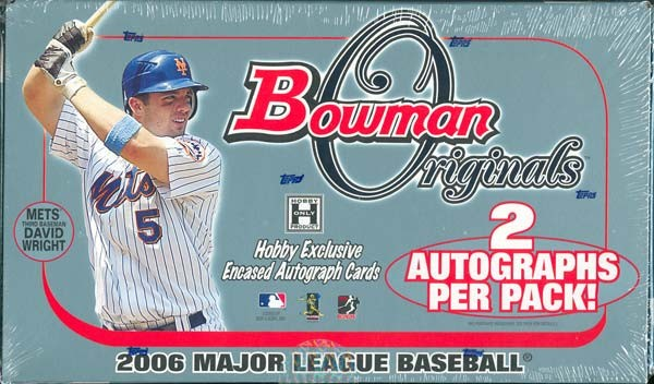 2006 Bowman Originals Baseball Hobby 8 Box Case