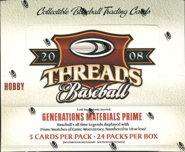 2008 Donruss Threads Baseball Hobby Box