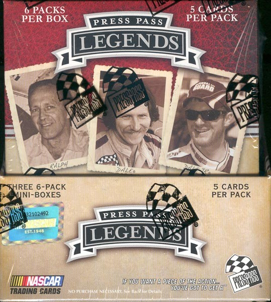 2009 Press Pass Legends Racing Hobby 12 Box Case