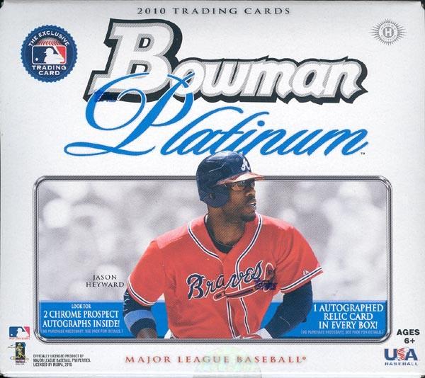 2010 Bowman Platinum Baseball Hobby 6 Box Case