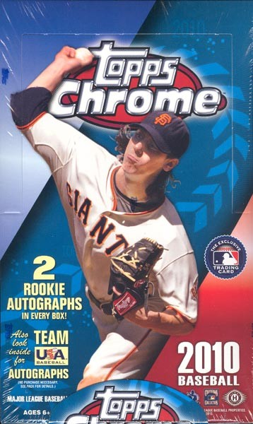 2010 Topps Chrome Baseball Hobby 12 Box Case
