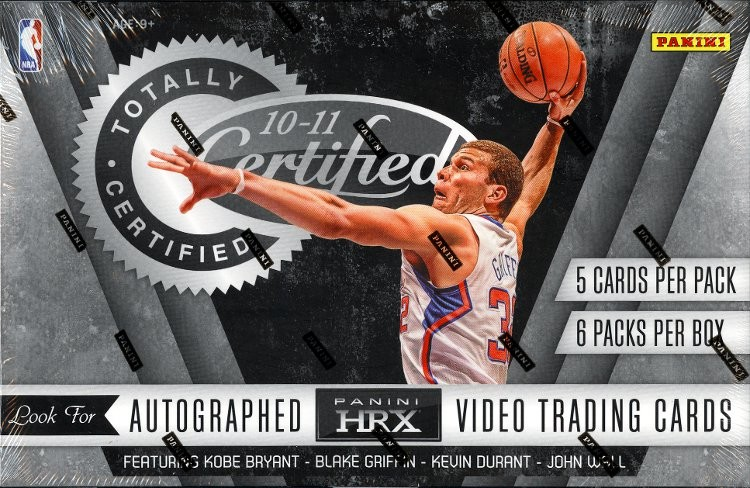 2010/11 Panini Totally Certified Basketball Hobby 12 Box Case