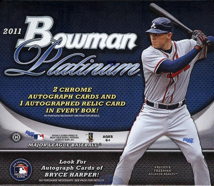 2011 Bowman Platinum Baseball Hobby 6 Box Case