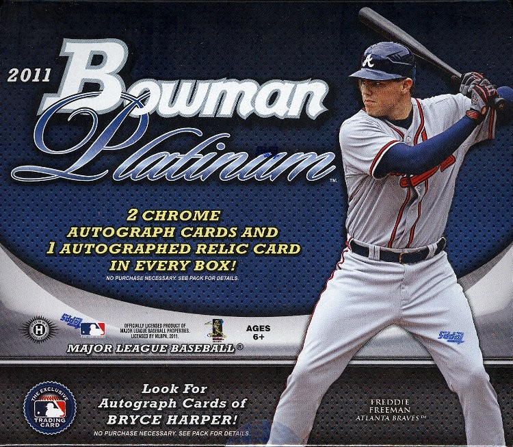 2011 Bowman Platinum Baseball Hobby 12 Box Case