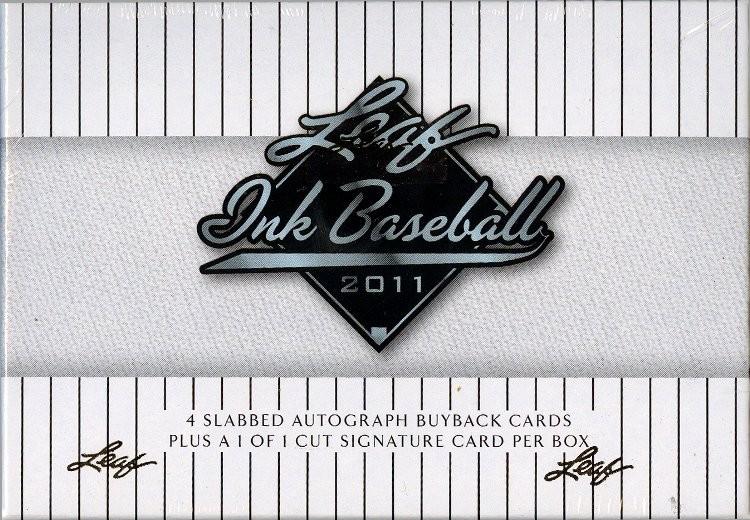 2011 Leaf Ink Baseball Hobby 12 Box Case