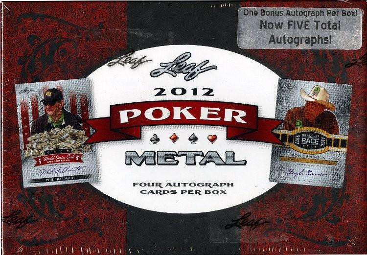 2011 Leaf Metal Poker Hobby 12 Box Case