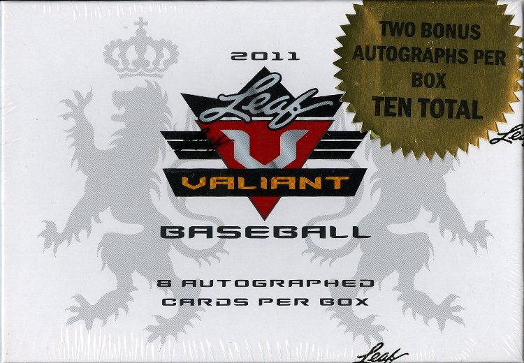 2011 Leaf Valiant Draft Baseball Hobby 12 Box Case