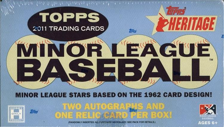 2011 Topps Heritage Minor League Baseball Hobby 6 Box Case