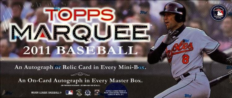 2011 Topps Marquee Baseball Hobby 12 Box Case