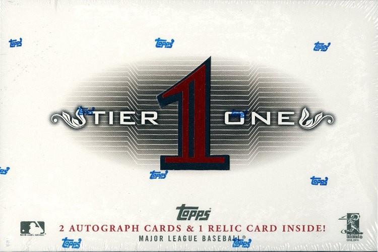 2011 Topps Tier 1 Baseball Hobby 6 Box Case