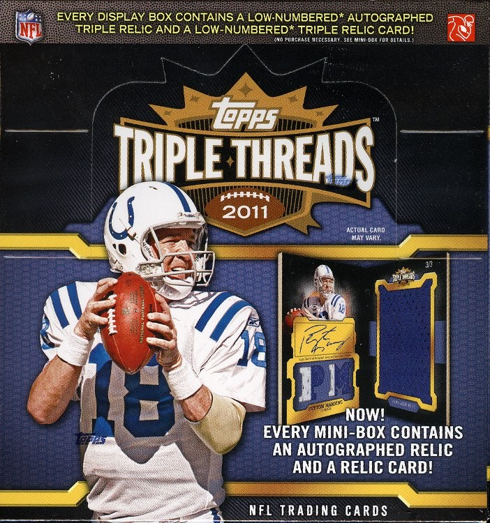 2011 Topps Triple Threads Football Hobby 9 Box Case