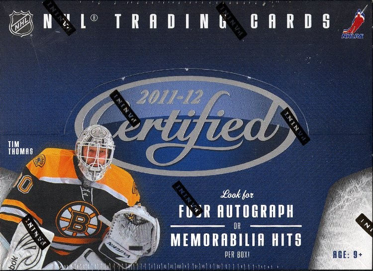 2011/12 Panini Certified Hockey Hobby 8 Box Case
