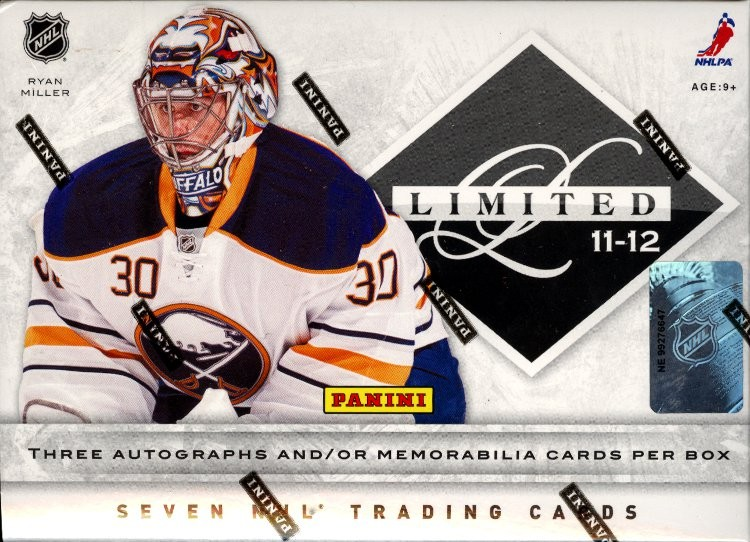 2011/12 Panini Limited Hockey Hobby 15 Box Case