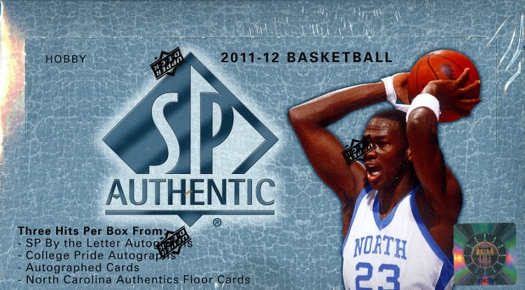 2011/12 Upper Deck SP Authentic Basketball Hobby 6 Box Case