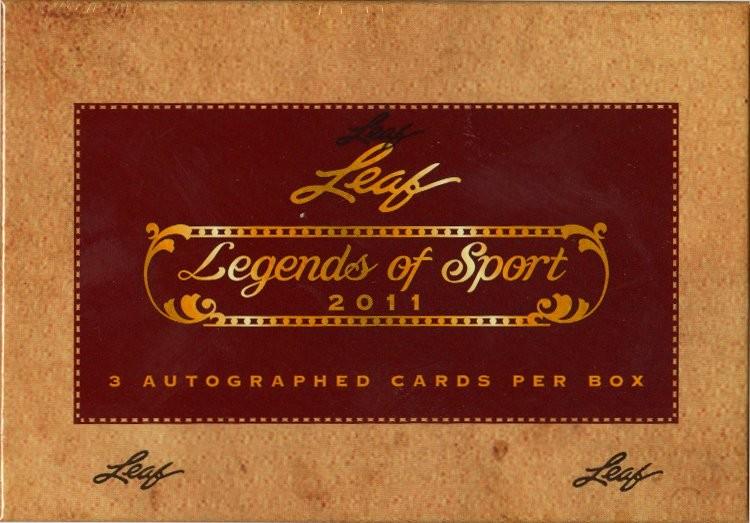 2011 Leaf Legends of Sport Hobby Box
