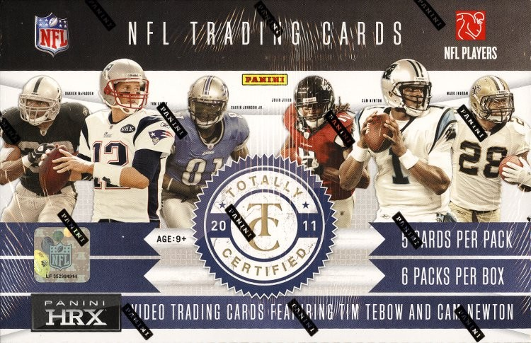 2011 Panini Totally Certified Football Hobby 12 Box Case
