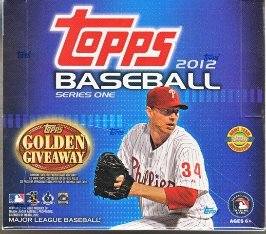 2012 Topps Series 1 Baseball Jumbo (HTA) Box