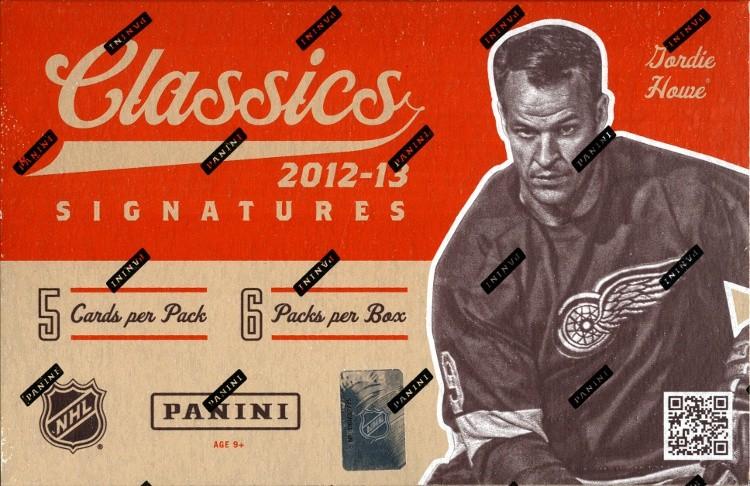 2012/13 Panini Classics Signatures Hockey Hobby 12 Box Case