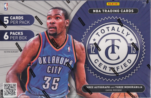2012/13 Panini Totally Certified Basketball Hobby 12 Box Case