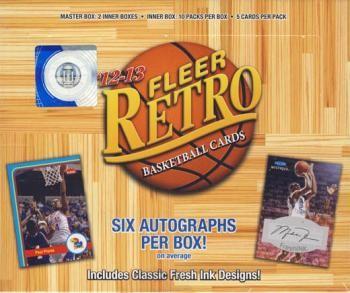 2012/13 Upper Deck Fleer Retro Basketball Hobby 6 Box Case