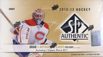 2012/13 Upper Deck SP Authentic Hockey Hobby 12 Box Case