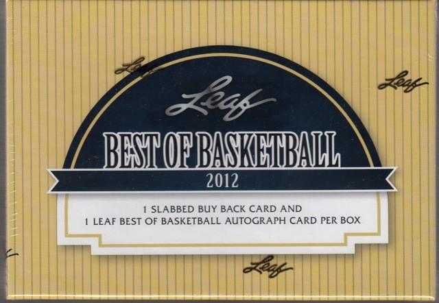 2012 Leaf Best of Basketball Hobby 3 Box Case