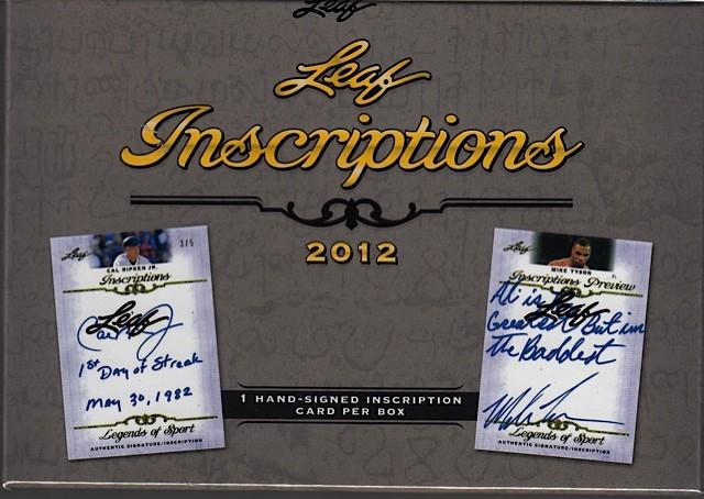 2012 Leaf Inscriptions Hobby Box