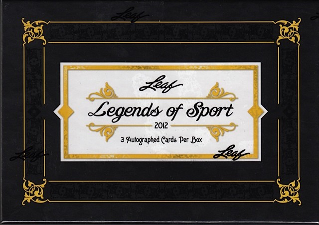 2012 Leaf Legends of Sport Hobby 12 Box Case