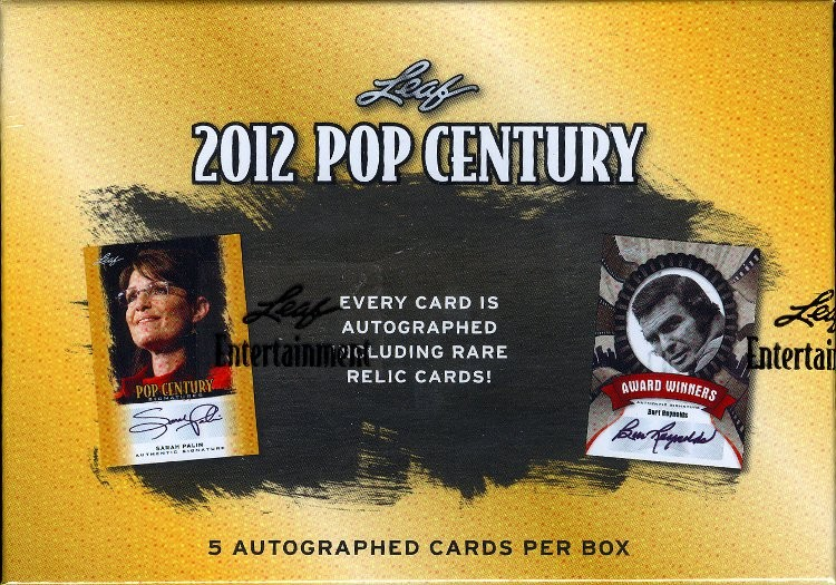 2012 Leaf Pop Century Trading Cards Hobby Box