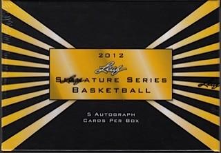 2012 Leaf Signature Series Draft Basketball Hobby 12 Box Case