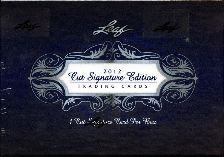 2012 Leaf Cut Signature Edition Hobby 6 Box Case