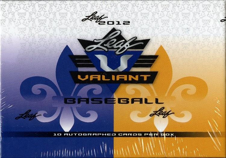2012 Leaf Valiant Baseball Hobby 12 Box Case