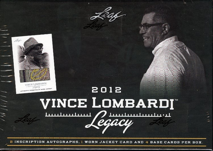 2012 Leaf Vince Lombardi Legacy Hobby 10 Box Case