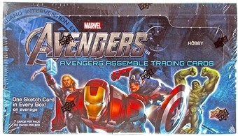 2012 Marvel Avengers Assemble Movie TC Hobby Box