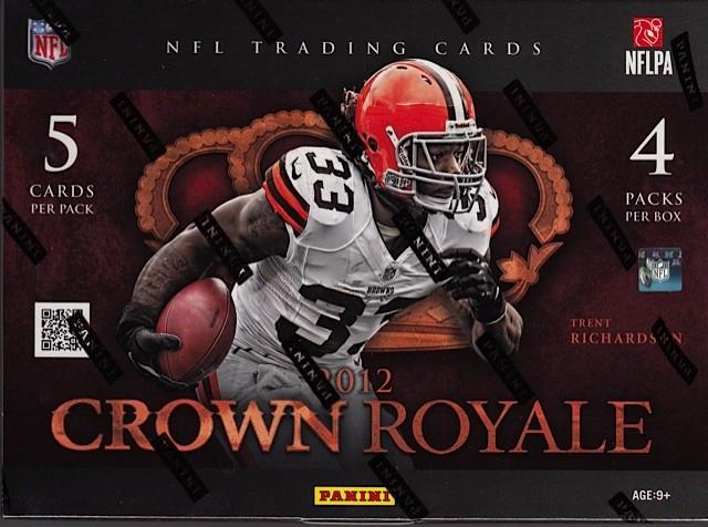 2012 Panini Crown Royale Football Hobby 12 Box Case