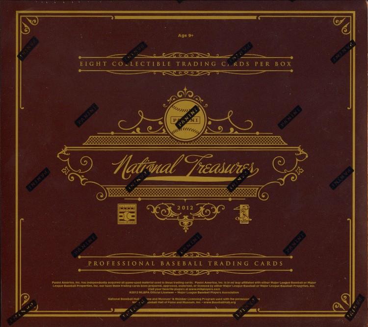 2012 Panini National Treasures Baseball Hobby 4 Box Case