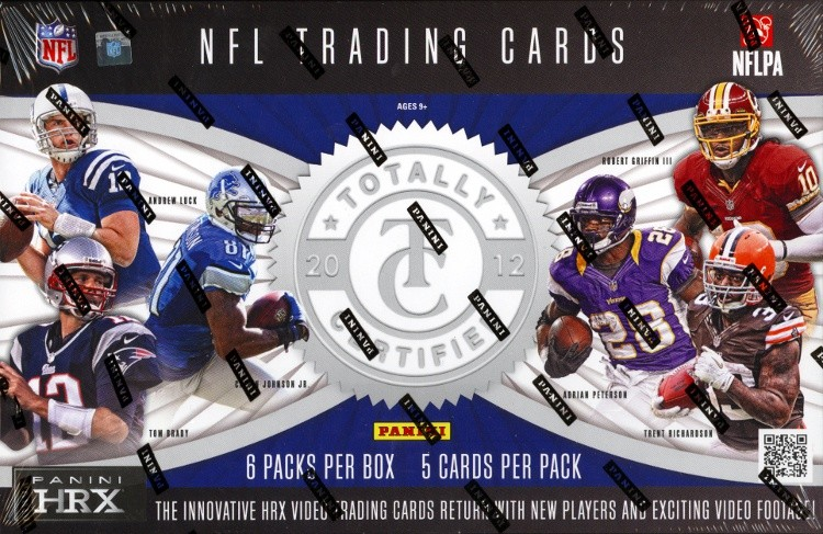 2012 Panini Totally Certified Football Hobby 12 Box Case