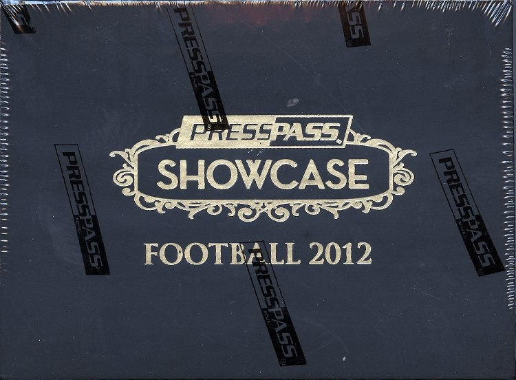 2012 Press Pass Showcase Football Hobby 20 Box Case