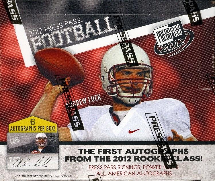 2012 Press Pass Football Hobby Box