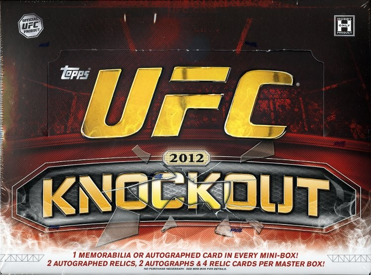 2012 Topps UFC Knockout Hobby 8 Box Case