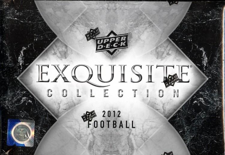 2012 Upper Deck Exquisite Football Hobby 3 Box Case