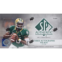 2012 Upper Deck SP Authentic Football Hobby 12 Box Case